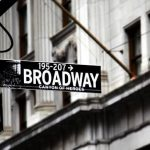 broadway auditions and sign showing broadway street intersection