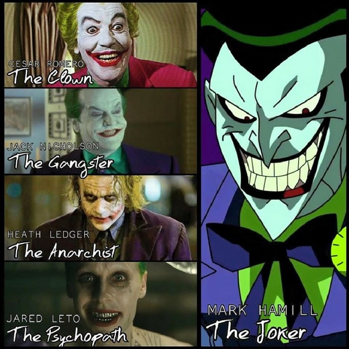 meme showing that Mark Hamill voice acting the Joker is now the trendsetter