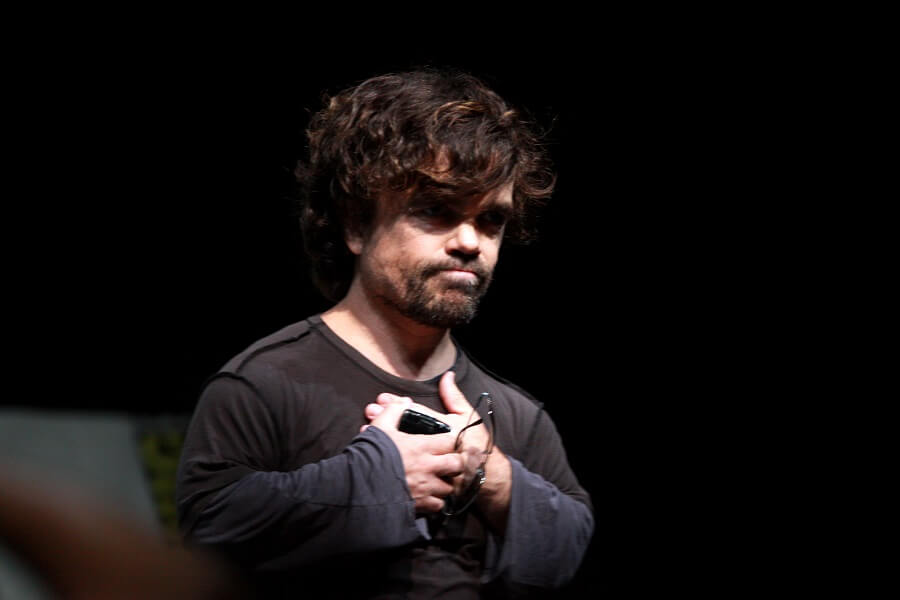 actor peter dinklage from game of thrones on stage