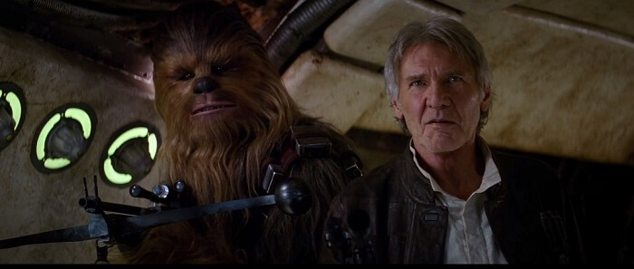 harrison ford in star wars the force awakens