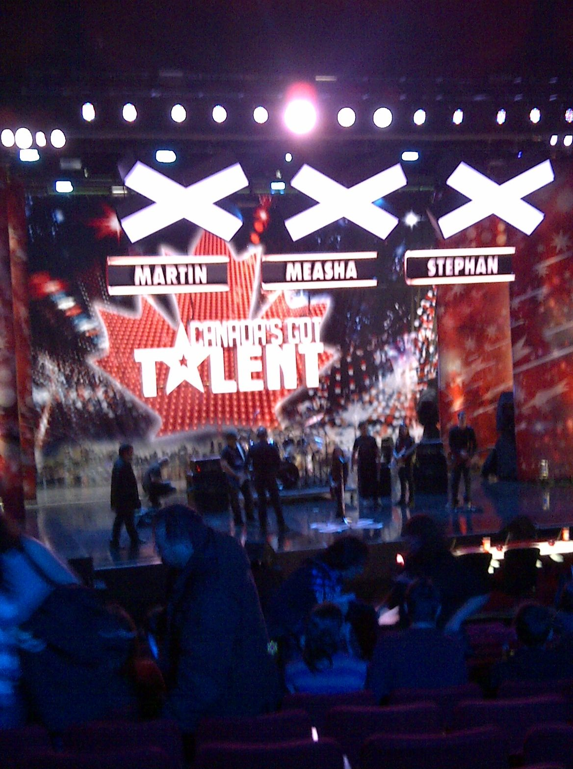 People On Stage Doing Audition
