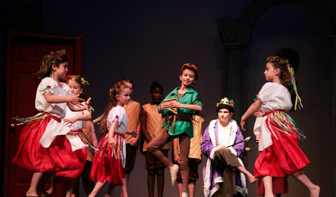 children in a acting performance